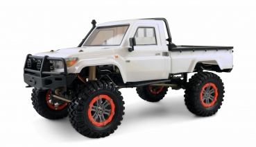 AMXRock RCX10P Scale Crawler Pick-Up, 110 RTR weiß